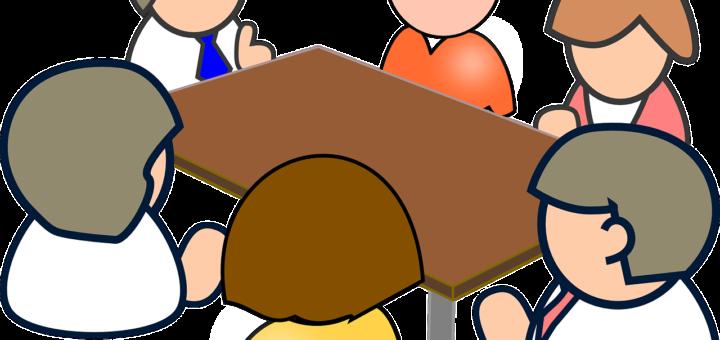 Grafika osoby przy stole