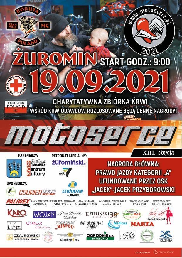 motoserce - zbiórka krwi 19.09.2021 centrum Żuromina